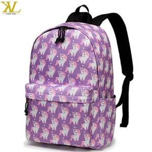Fashion College Student Cute Unicorn School Backpack Bag For Girls