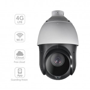 4G LTE Wireless Network IR PTZ Camera with 360° Endless Monitoring