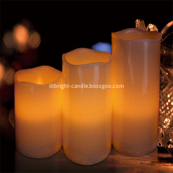 LED lilin Set dengan Desain Gading Luxury Collection