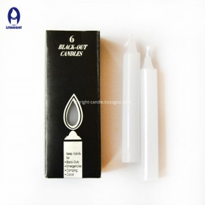 2018 popular design flameless white household candle