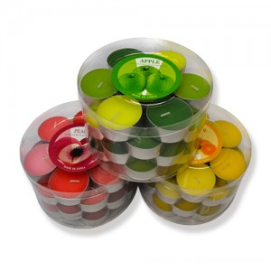 8g-23g Colored tealight candles in metal cups