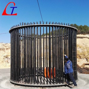 Wind tower foundation anchor cage ASTM A615 Gr 75 Pre-assembled threaded bar cage