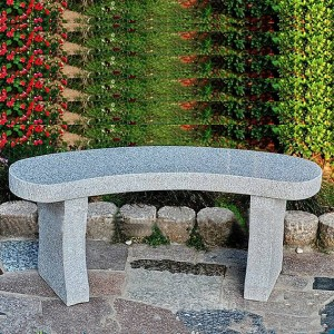Wholesale patio granite stone used park benches garden chair
