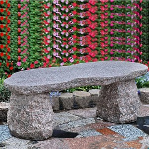 Granite custom size carved stone bench for park decor