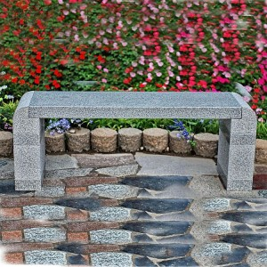 Outdoor cheap price granite stone garden long bench