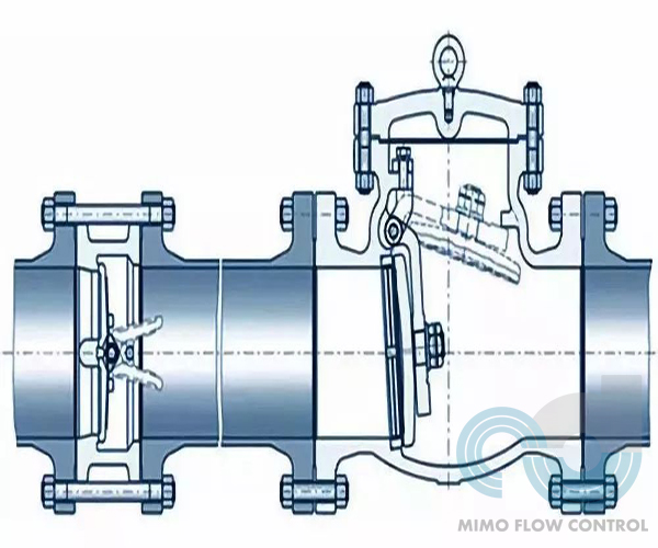 Where should the check valve be installed?