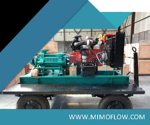 Good News! Removable Multistage Water Pump diesel engine driven with trailer for an Africa friend!