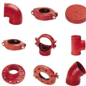 火管的红色彩绘槽末端消防系统钢管