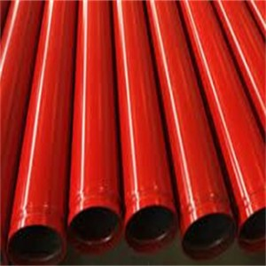 碳钢管镀锌钢管,用于红色彩绘槽末端消防钢管