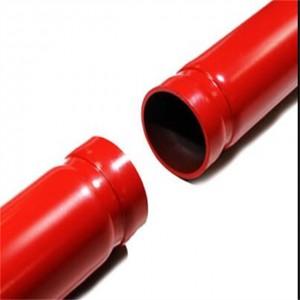 沟槽端部镀锌钢管以用于防火