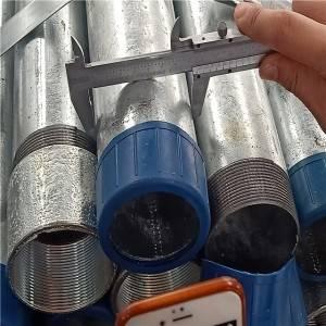镀锌钢空心段螺纹钢管BS1387 /建筑管