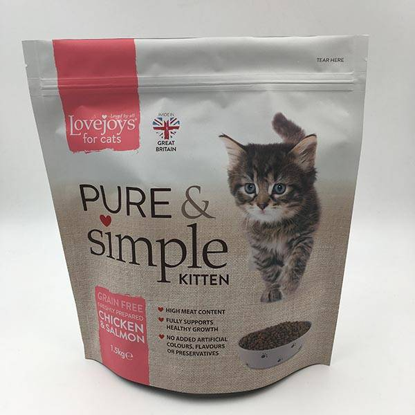 High Quality Printed Custom Flat Bottom Bag -