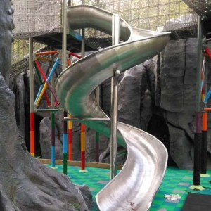 China Factory Amusement Park Outdoor Stainless Steel Slide