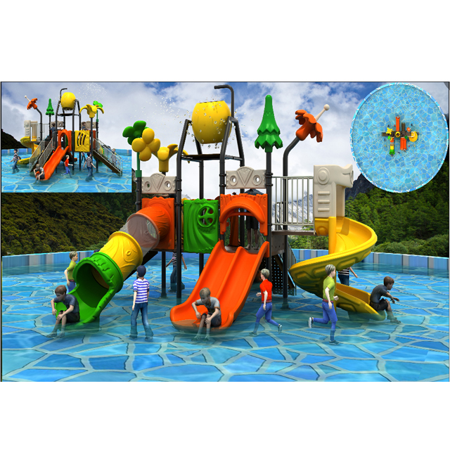 Small waterpark Child pool with water slide Featured Image