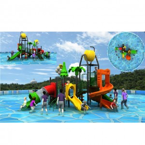 Water house-professional export commercial water park equipment double lane water slide aqua park design