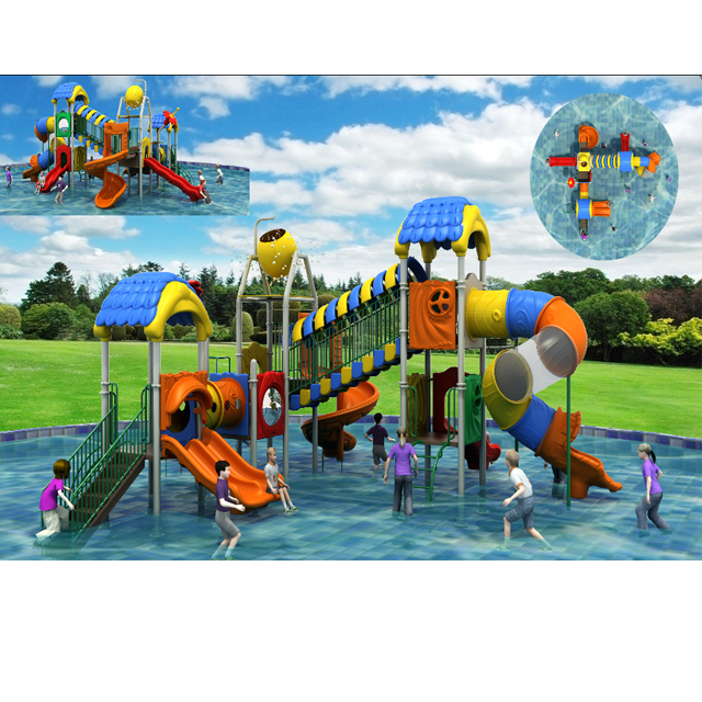 Creative Grand Water House With Plastic Slide Featured Image