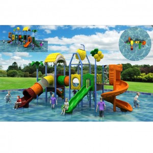 Swimming pool water slide kids play house