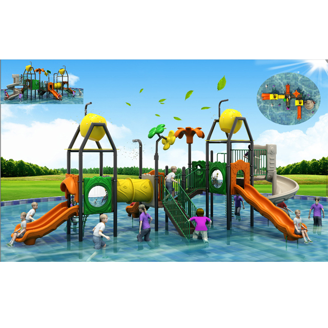 2019 Latest design Plastic water playground ,water house slide for kids Featured Image