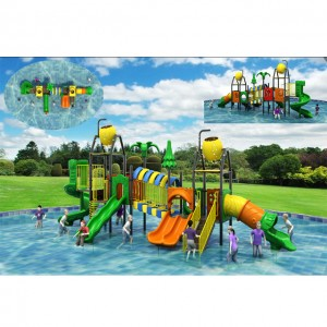 2018 Latest design Plastic water playground ,water house slide for kids