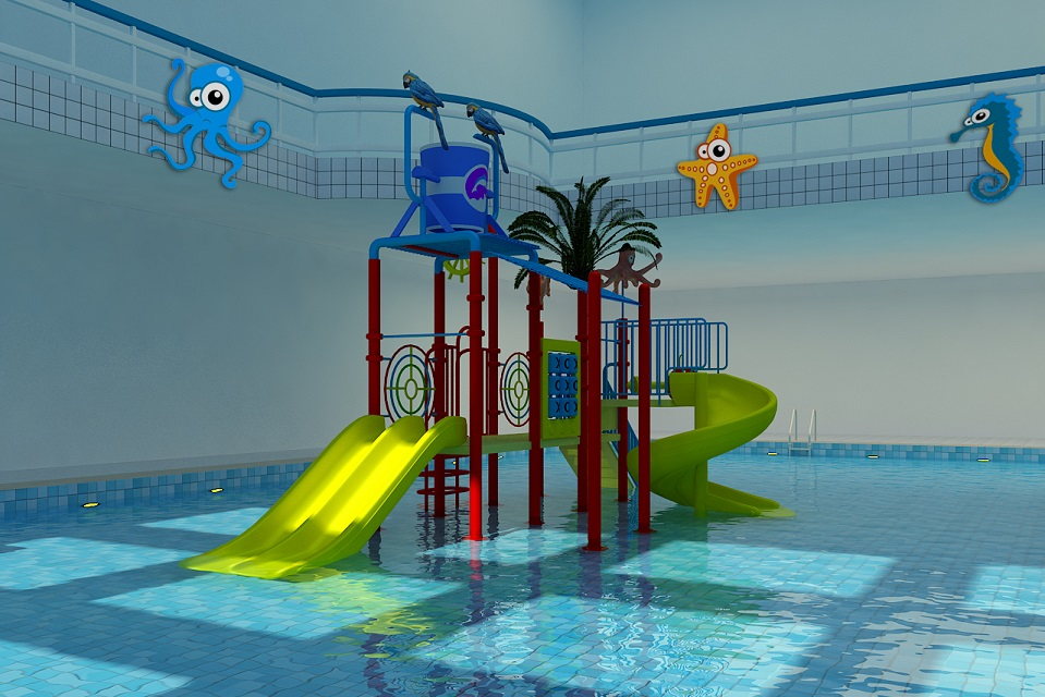 2019 New water games kids water park water playground, LLDPE, galvanized pipe water park slides for sale Featured Image