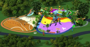 Customized Design Kids Outdoor Playground park