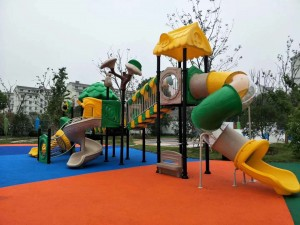 Customized Outdoor Playground playground tube slides