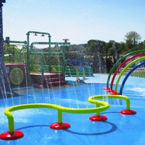 water attraction aqua spray house for kids small aqua spray house commercila spray park