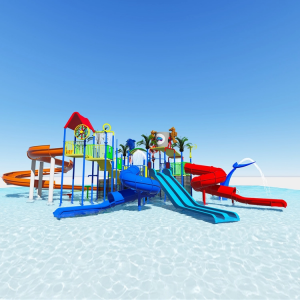 low price factory Outdoor Large water park equipment used ...