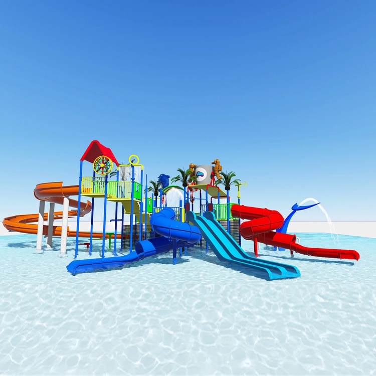 low price factory Outdoor Large water park equipment used swimming pool slide for sale Featured Image