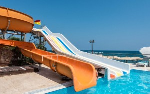 Mutong water park equipments, big water slides for sale