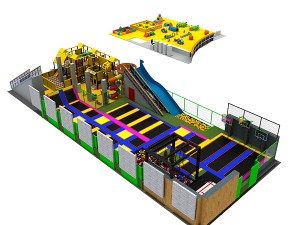 Professional indoor trampoline park, equipment commercial trampoline