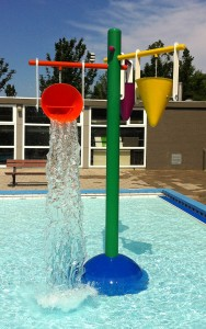 double drench bucket for kids summer water play