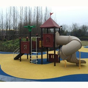 Kindergarten Used Outdoor Playground Plastic Slide