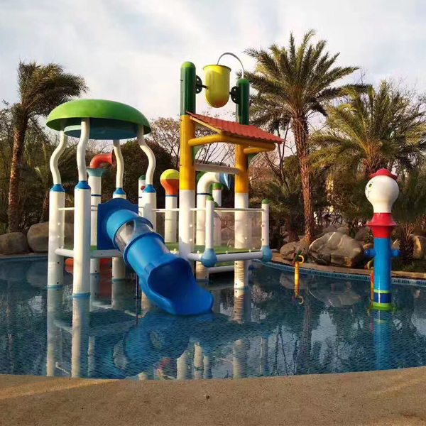 Aquatic Fiberglass Children Water House Water Play Structure for Pool Featured Image
