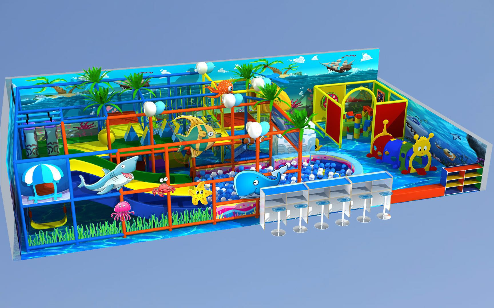 Best Selling cheap and colorful indoor playground equipment for playground Featured Image