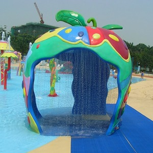 Stainless Steel Water Play Umbrella Waterfall