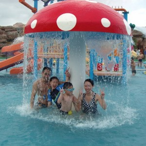Swimming Pool Equipment Mushroom High Quality Water Park Waterfall Mushroom