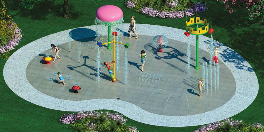 hot sale aqua splash pad jet stream playground water park equipment special design fountain for sale Featured Image