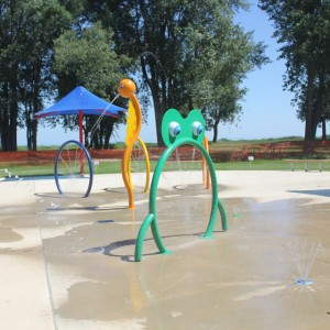 water Splash pad aquatic play equipment for water park pool