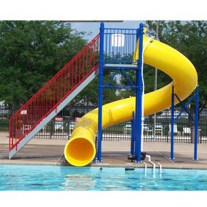 Water Play Park Fiberglass Water Tube Slide For Pool