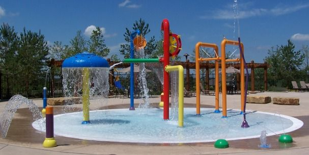 Our new installed water amusement playground in USA