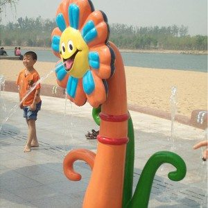 Water Play Equipment Follwer-shaped Waterfall for Pool