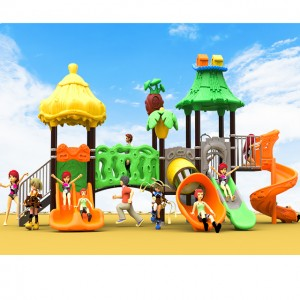 Customized new hard plastic outdoor pipeline children playground slide