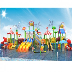 Fiberglass water slides water park playground water house for sale
