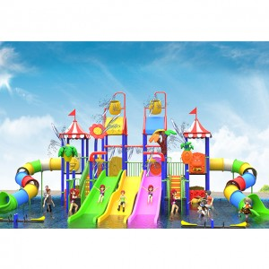 Kids Water House Equipment with Slides and Climbing Structures