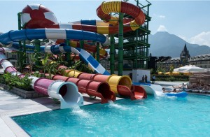 Good Quality Promotional Fiber water slide