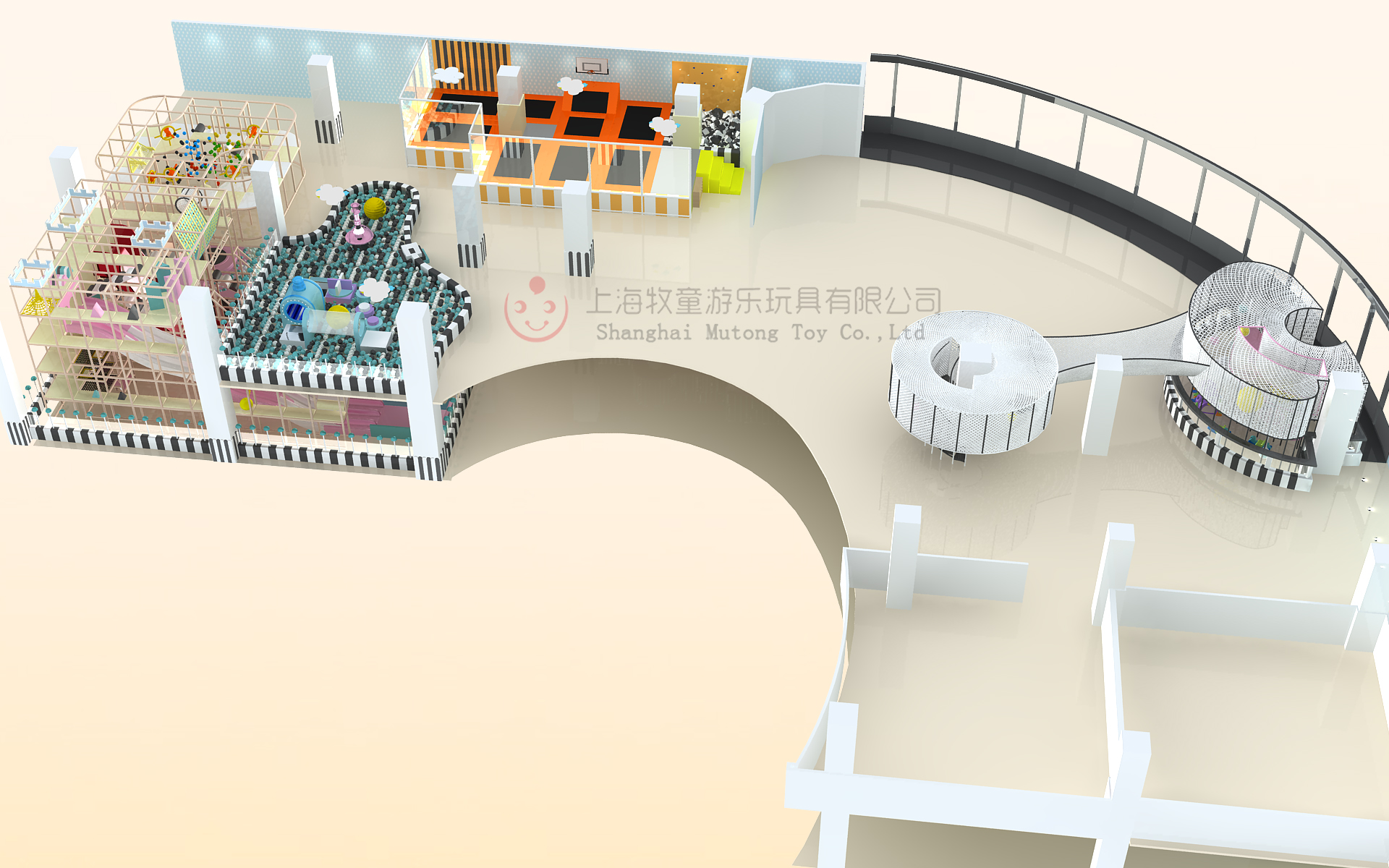 Unified Design Mutong Indoor Playground Equipment For Game Center Featured Image