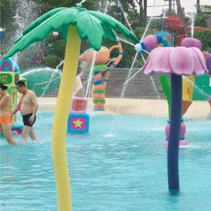 Water Flower Spray Column Structure for Summer Kids Play