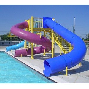 Fiberglass Children Outdoor Pool Amusement Equipment Water Slide