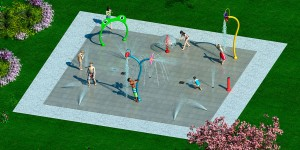 Hot Design Water Splash Pad Amusement Water Spray Equipment For Sale